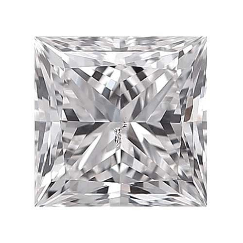 1.7 carat Princess Diamond - D/SI3 CE Very Good Cut - TIG Certified - Custom Made