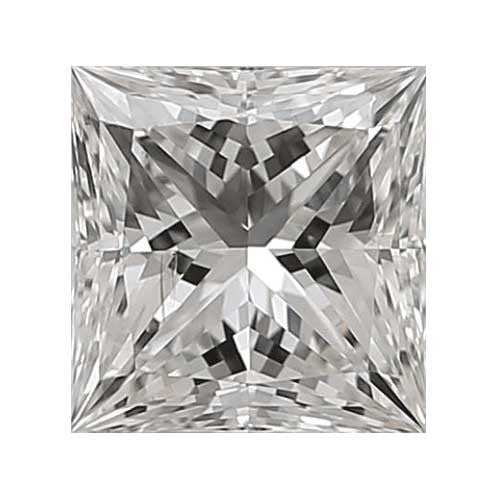 Loose Diamond 1.7 carat Princess Diamond - H/SI1 CE Very Good Cut - AIG Certified