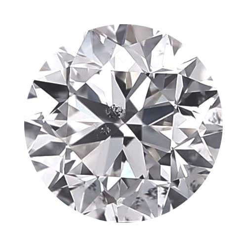 Loose Diamond 1.7 carat Round Diamond - D/I1 CE Good Cut - AIG Certified