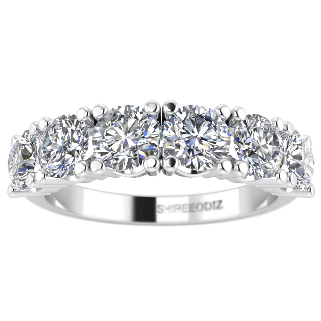 wedding rings 180 carat 5 stone round real diamond semi eternity anniversary ring in - Real Diamond Wedding Rings