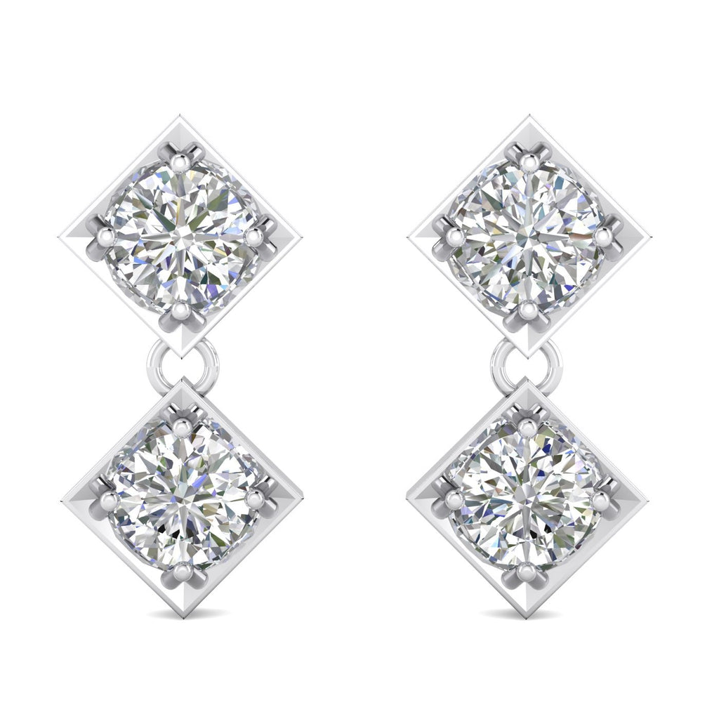 Daily Deal 1.80 carat Designer Diamond Drop Earrings