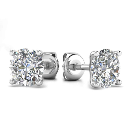 Sale 1 carat D/VS1 Round Diamond Stud Earrings - Anniversary Gift
