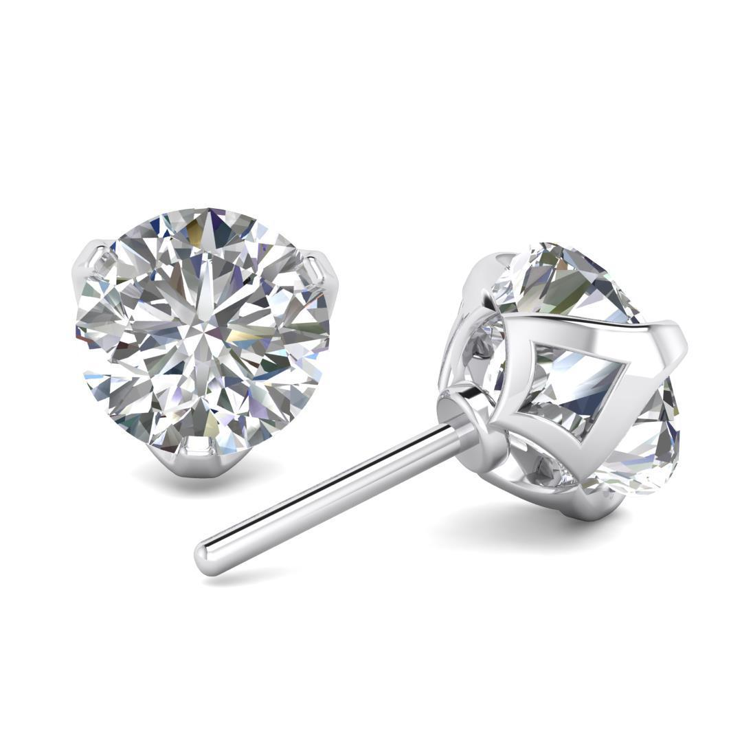 gold carat p w earrings diamond diamonds stud wh round ct white