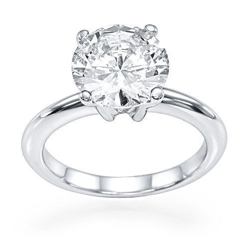 1 carat Diamond Solitaire Classic Engagement Rings in Platinum - Custom Made