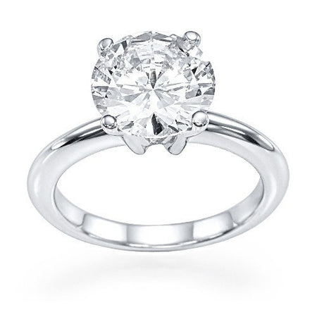 Engagement Rings 1 carat Diamond Solitaire Classic Engagement Rings in Platinum