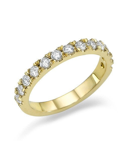 bands cut in eternity white diamond band bezel gold semi set round ctw wedding anniversary