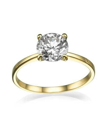 Engagement Rings 1 carat G-VS2 Classic Solitaire Engagement Ring in 14K Yellow Gold