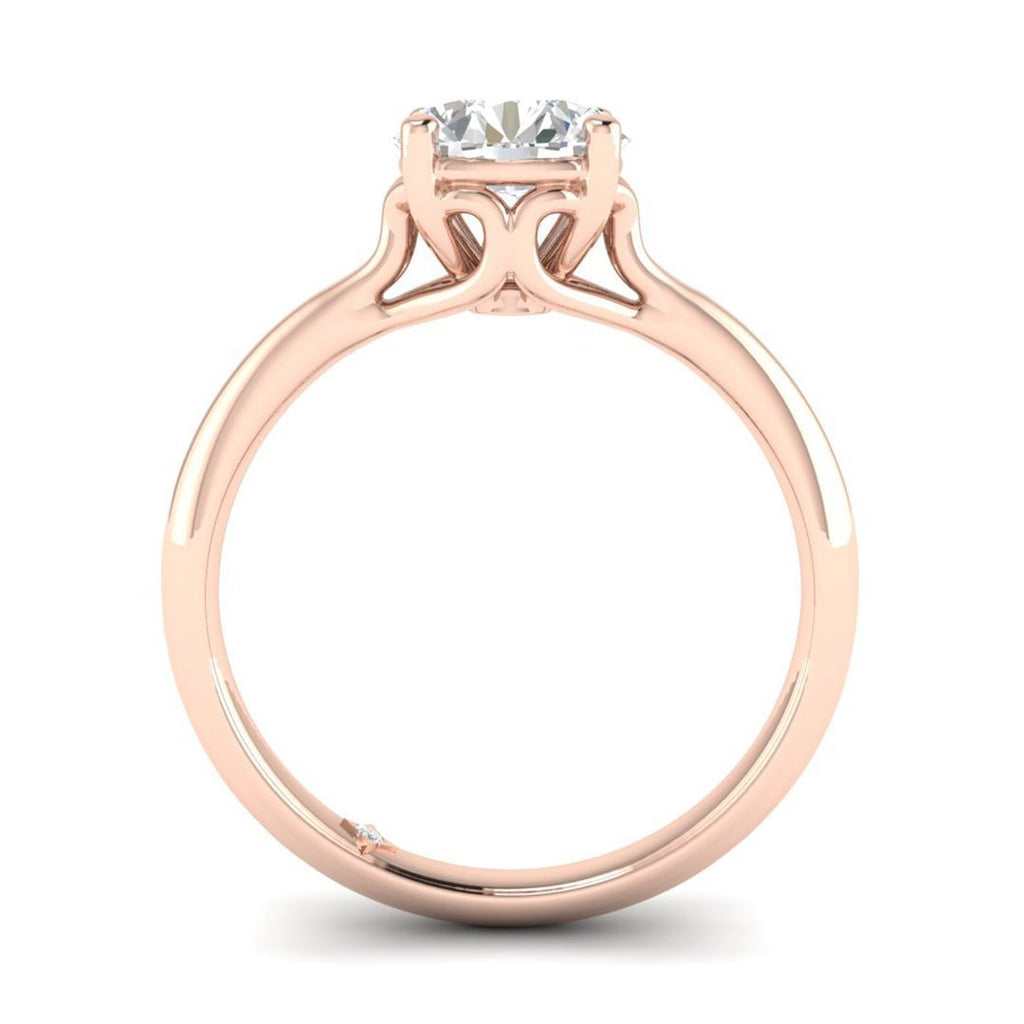 Daily Deal 1 carat Rose Gold Vintage Antique-Style Diamond Engagement Ring