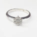 Sale 1 carat Size Cluster Diamond Engagement Ring in 14k White Gold