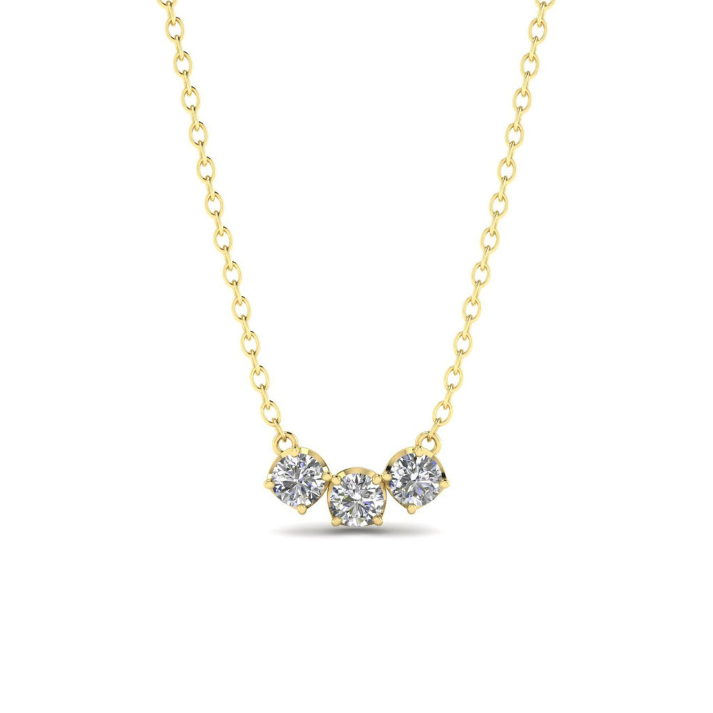 Daily Deal 1 carat Trilogy Diamond Pendant Necklace