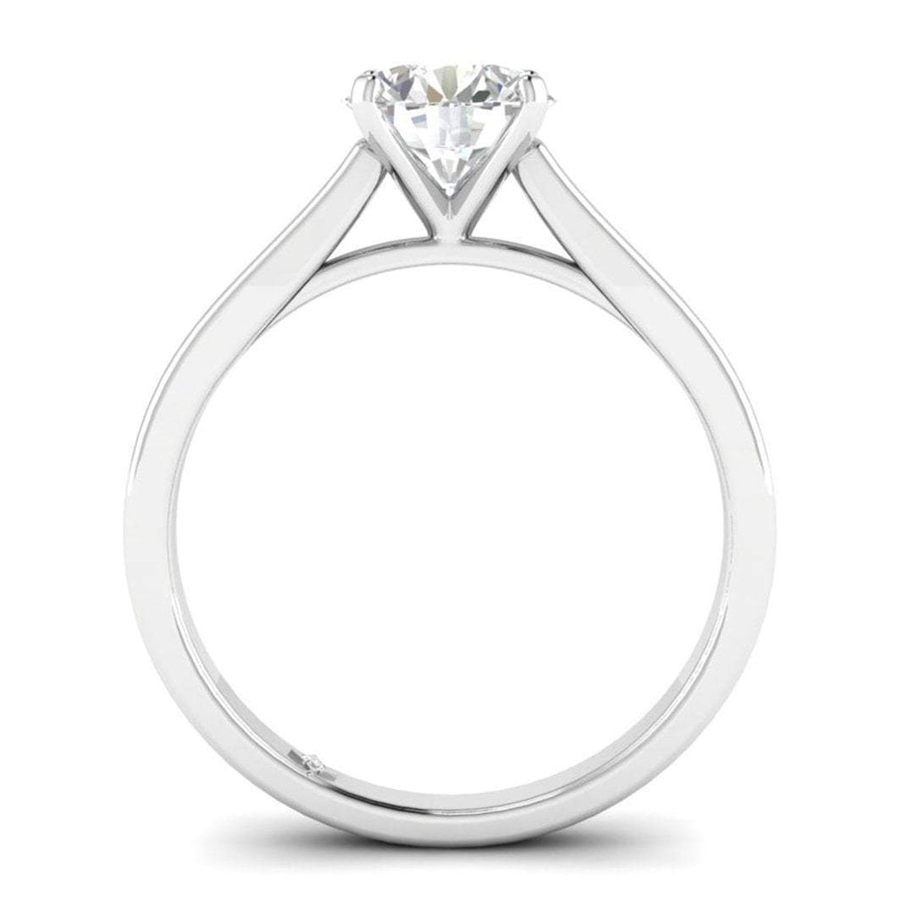 Daily Deal 1 carat White Gold Cathedral Diamond Engagement Ring
