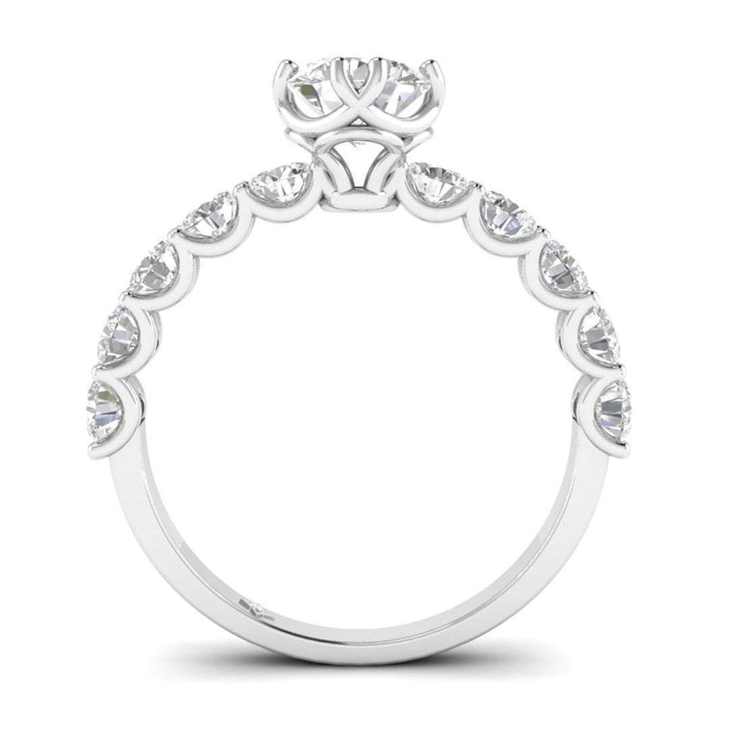 Daily Deal 1 carat White Gold Vintage Antique-Style Diamond Engagement Ring