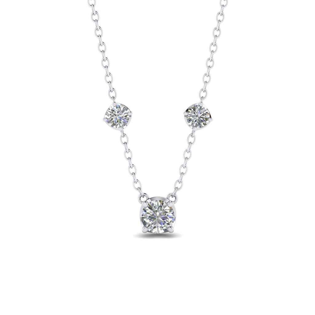 PEN-14 14k Diamond White Gold By The Yard Necklace - 0.55 carat  D-SI1 Natural