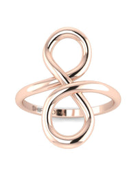 Hidden 14K Rose Gold Promise Ring For Her - Infinity Knot