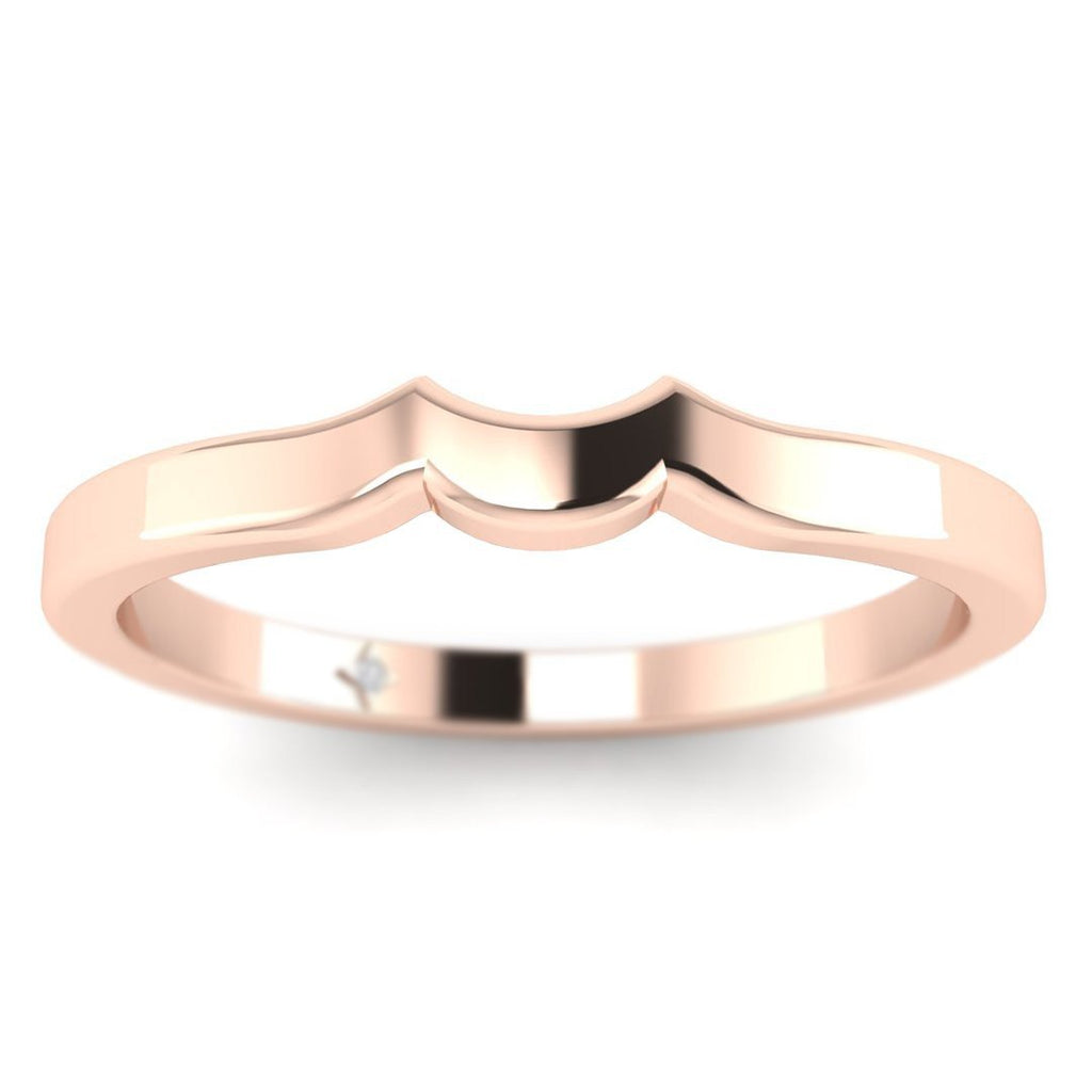 14k Rose Gold Vintage Designer Matching Plain Wedding Band Ring - Custom Made