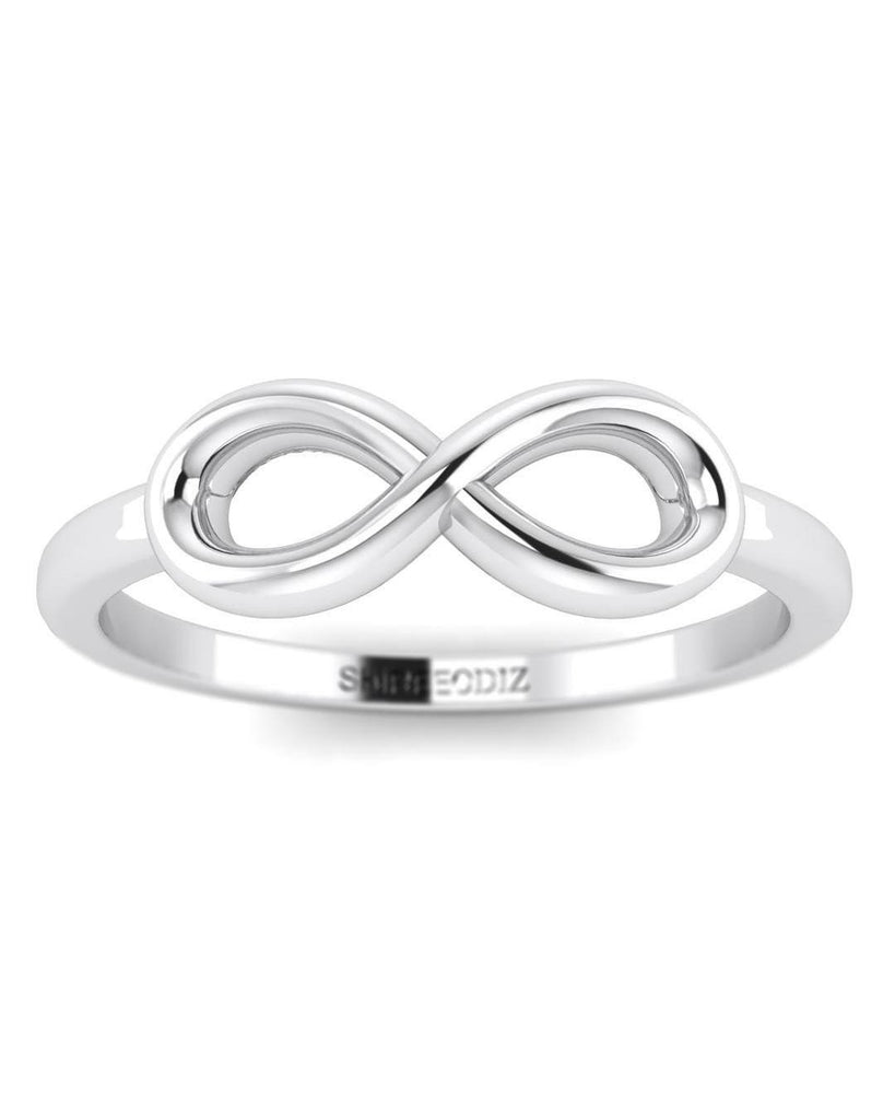 14K White Gold Infinity Promise Ring - Custom Made