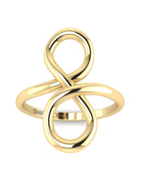 Hidden 14K Yellow Gold Promise Ring For Her - Infinity Knot