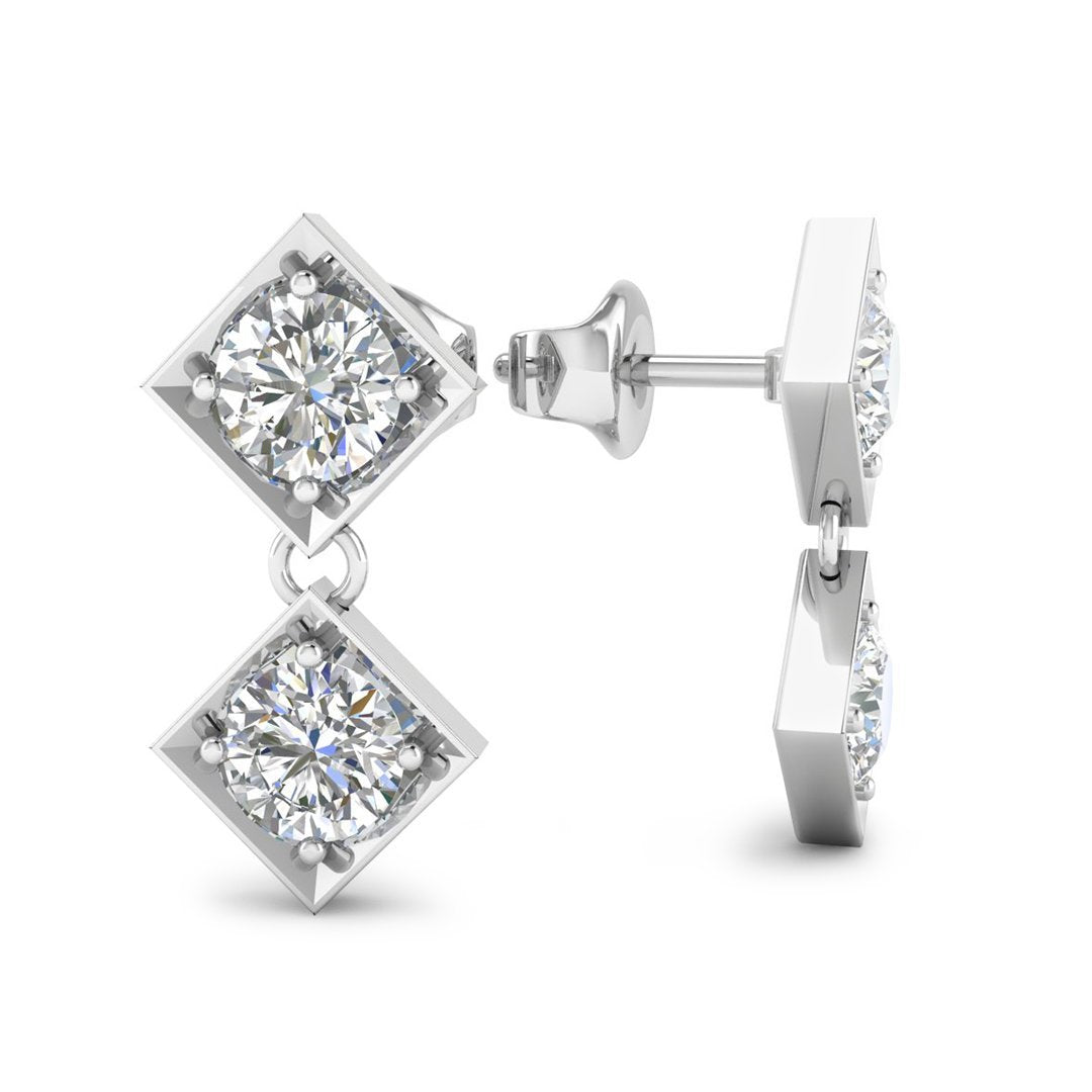 stud cm white deals earrings gg diamond gold groupon