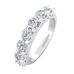 Wedding Rings 2.00 carat 7-Stone Unique Diamond Semi-Eternity Rings in 14k White Gold