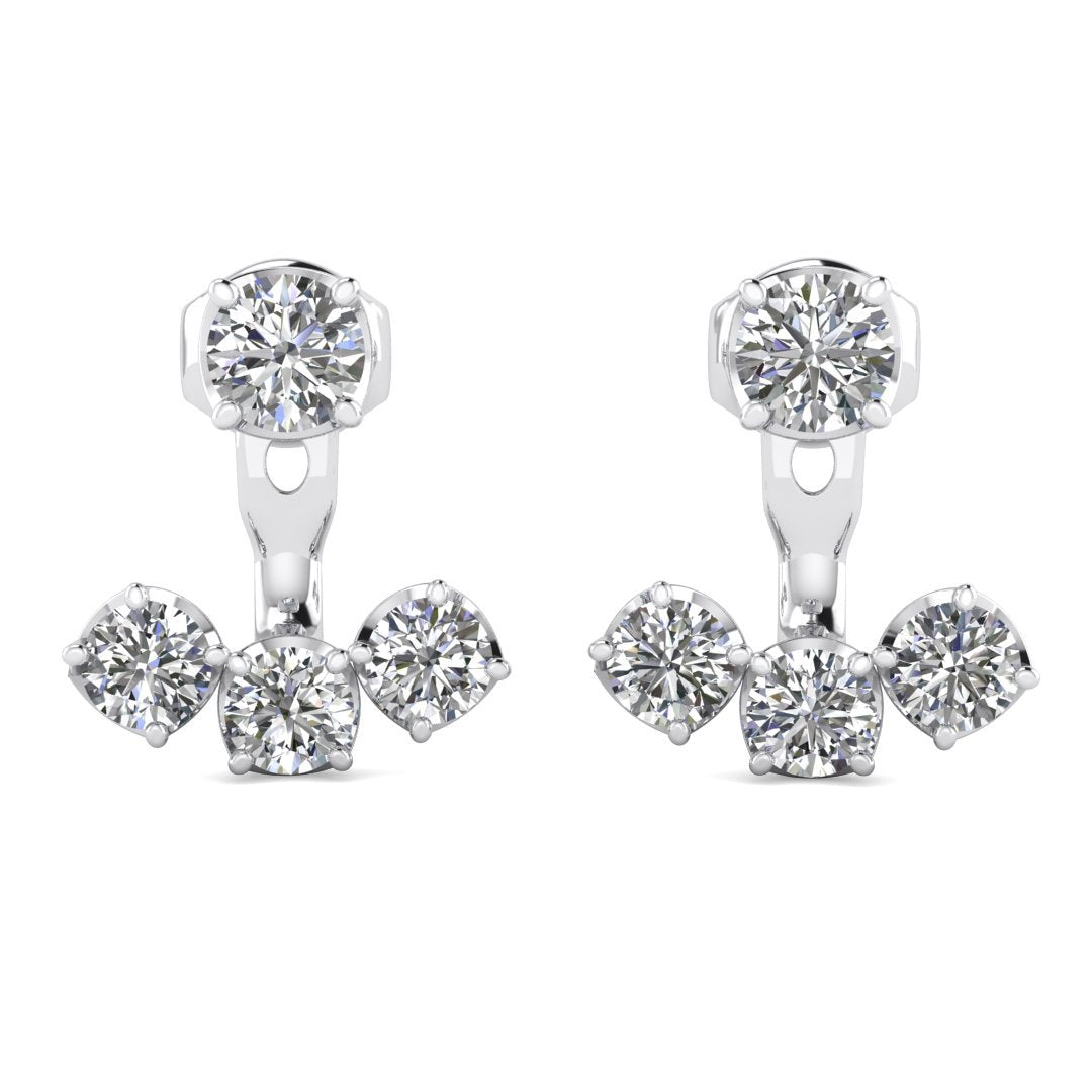 view de diamond solitaire larger beers amazoncom l drop stud earrings