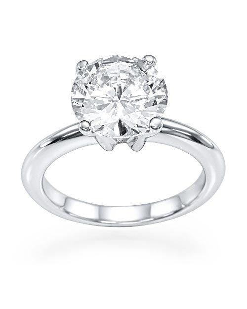50% OFF | HUGE 3 carat F-G/SI2 Round Cut Diamond Engagement Ring - Custom Made