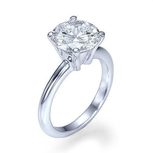 Sale 2 carat 100% Natural Diamond Ring in 14k White Gold