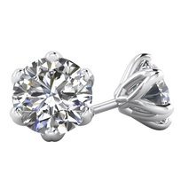 Daily Deal 2 carat 100% Natural Diamond Studs