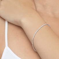 Bracelets 2 carat 14k White Gold Diamond Tennis Bracelet in White Gold