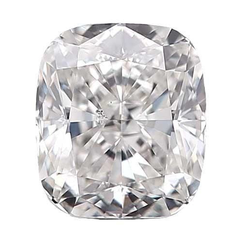 2 carat Cushion Diamond - F/SI1 CE Very Good Cut - TIG Certified - Custom Made