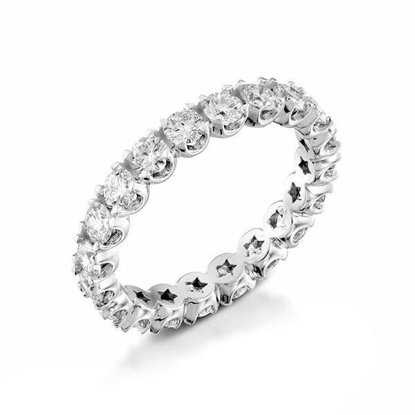 2 carat Diamond Unique Designer Wedding Eternity Band Ring in 14k White Gold - Custom Made