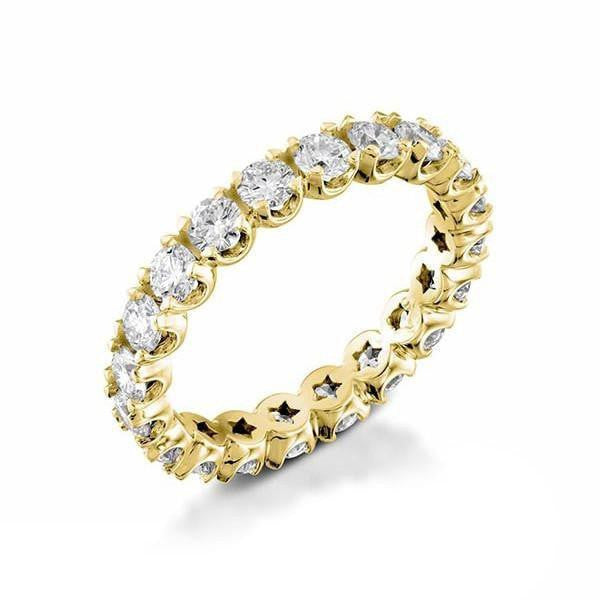 2 carat Diamond Unique Designer Wedding Eternity Band Ring in 14k