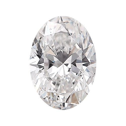 2 carat Oval Diamond - D/SI3 Natural Excellent Cut - TIG Certified - Custom Made