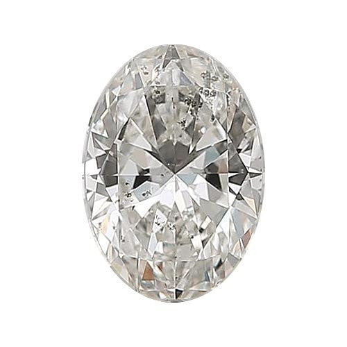 2 carat Oval Diamond - H/I1 Natural Excellent Cut - TIG Certified - Custom Made