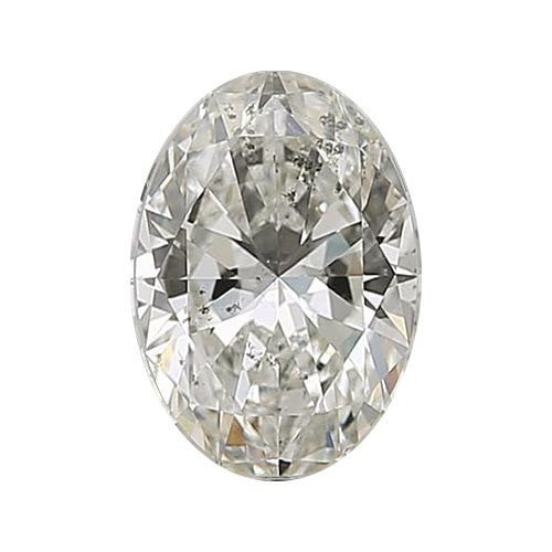 2 carat Oval Diamond - J/I1 Natural Excellent Cut - TIG Certified - Custom Made