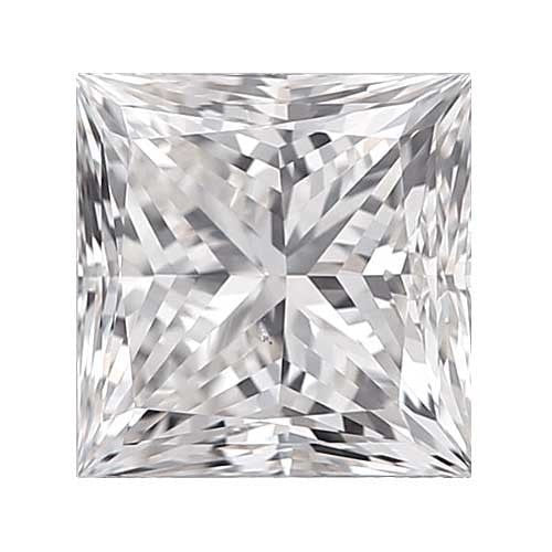 2 carat Princess Diamond - D/VS1 Natural Excellent Cut - TIG Certified - Custom Made