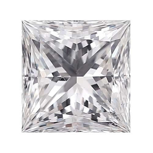 2 carat Princess Diamond - E/VS2 Natural Very Good Cut - TIG Certified - Custom Made