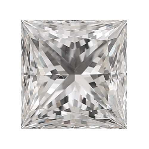 2 carat Princess Diamond - G/VS2 Natural Excellent Cut - TIG Certified - Custom Made