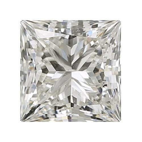 2 carat Princess Diamond - I/SI2 CE Very Good Cut - TIG Certified - Custom Made