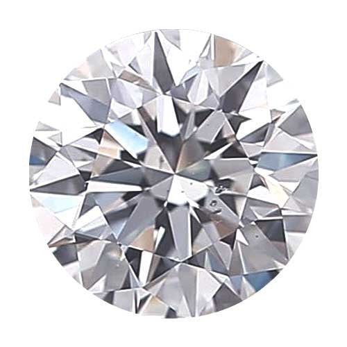 2 carat Round Diamond - D/SI1 CE Signature Ideal Cut - TIG Certified - Custom Made