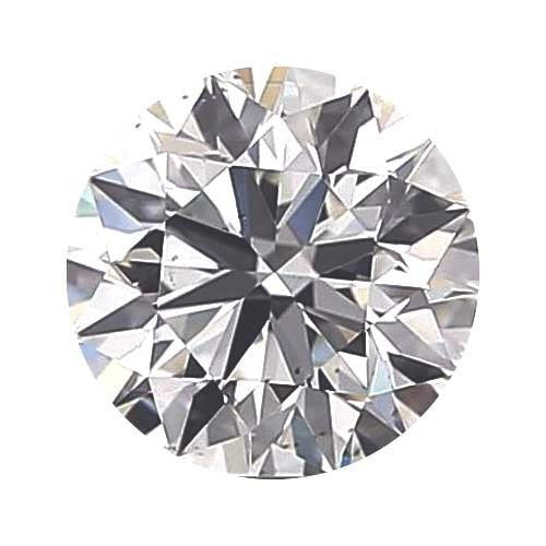 2 carat Round Diamond - D/VS1 CE Excellent Cut - TIG Certified - Custom Made