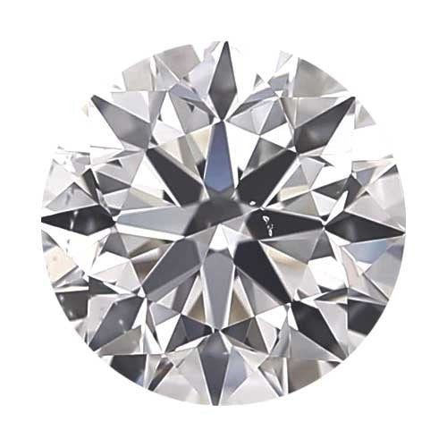 2 carat Round Diamond - E/VS2 CE Signature Ideal Cut - TIG Certified - Custom Made