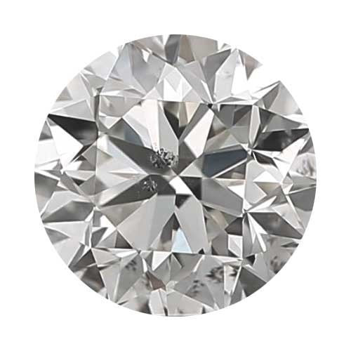 2 carat Round Diamond - H/I1 CE Signature Ideal Cut - TIG Certified - Custom Made