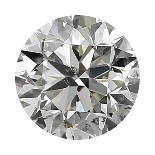 2 carat Round Diamond - J/I1 Natural Excellent Cut - TIG Certified - Custom Made