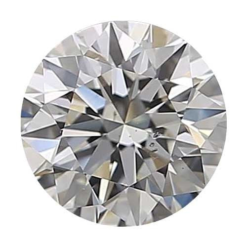 2 carat Round Diamond - J/SI1 Natural Excellent Cut - TIG Certified - Custom Made