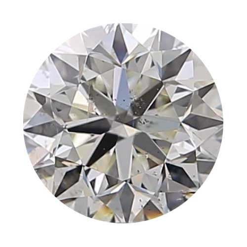 2 carat Round Diamond - J/SI2 Natural Excellent Cut - TIG Certified - Custom Made