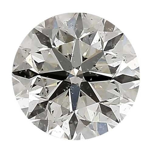 2 carat Round Diamond - J/SI3 Natural Excellent Cut - TIG Certified - Custom Made