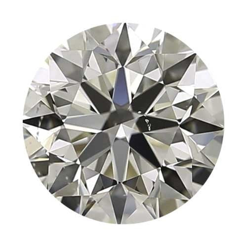 2 carat Round Diamond - J/VS2 Natural Excellent Cut - TIG Certified - Custom Made