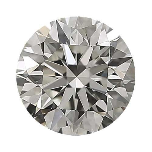 2 carat Round Diamond - J/VVS1 Natural Excellent Cut - TIG Certified - Custom Made