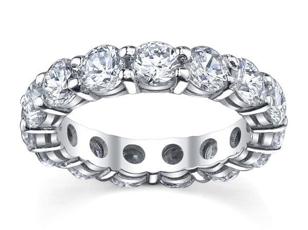Wedding Rings 4.00 carat Full Eternity Diamond Wedding Anniversary Ring in 14k White Gold