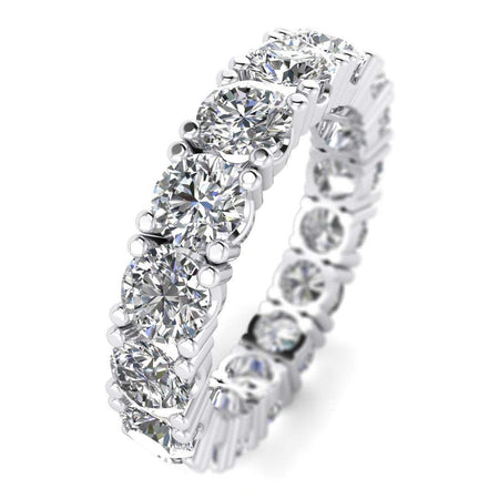 Diamond Eternity Rings 4 carat Classic D-VS1 Diamond Eternity Ring in 14k White Gold